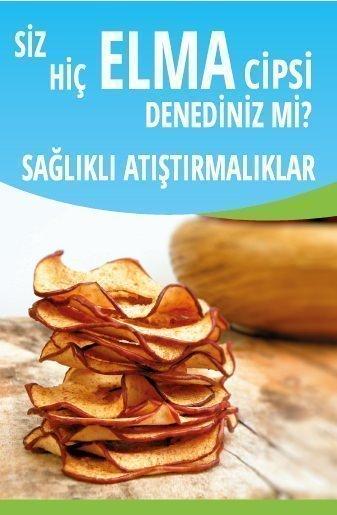 Sağlıklı Atıştırmalıklarda Elma Cipsi